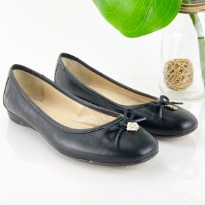 Vince Camuto Ria Ballet Flat Black Leather Classic